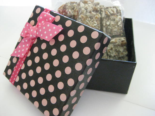 Pink Polka Dot Gift Box