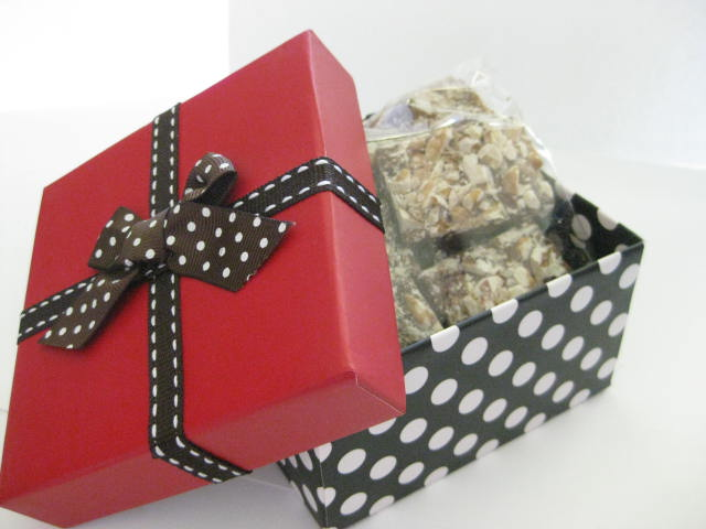 English Toffee 1 lb. Box-1 lb. English Toffee, English Toffee, Worlds Best English Toffee, Corporate Gifts